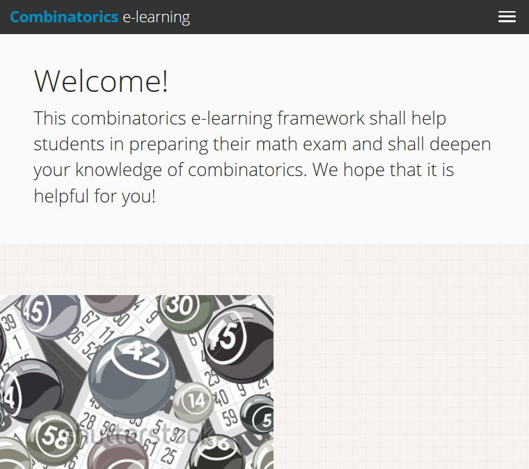 combinatorics e-learning